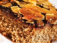 Бадемов кейк с карамел и шоколад